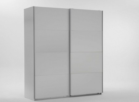 small 2 door white sliding wardrobe